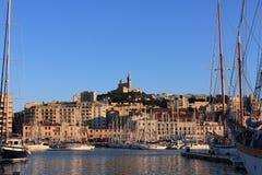 Провансаль Cote d'Azur, Франция - порт марселя старый стоковое изображение rf