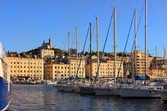 Провансаль Cote d'Azur, Франция - порт марселя старый стоковая фотография rf