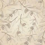 Прованская безшовная картина. Обои флористического пищевого ингредиента природы старомодные иллюстрация штока