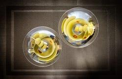 2 прованских коктеиля Мартини Стоковая Фотография RF