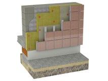 Провентилированные фасады с плитами Стоковые Изображения RF