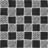 Проверенная иллюстрация нарисованная рукой с абстрактными элементами Seamles Стоковое Изображение