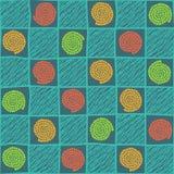 Проверенная иллюстрация нарисованная рукой с абстрактными элементами Seamles Стоковая Фотография RF