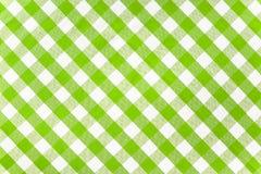 проверенная скатерть зеленого цвета ткани Стоковые Изображения RF