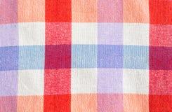 Проверенная скатерть ткани Стоковое Изображение
