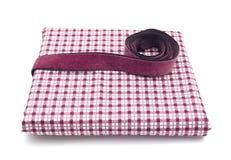 проверенный полосой пурпур ткани Стоковое Фото