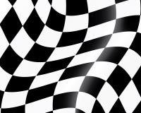проверенный участвовать в гонке флага Стоковые Фотографии RF