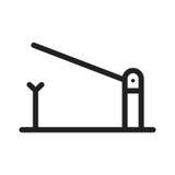 Проверите барьер столба иллюстрация вектора