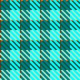 проверите бирюзу ткани Стоковое Изображение