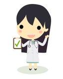 Проверите женщину доктора доски сзажимом для бумаги Стоковая Фотография RF
