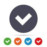 Проверите значок знака button yes Стоковые Изображения RF