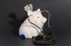 проверите медицинское соревнование цены вверх стоковое изображение rf