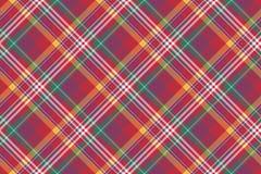 Проверите покрашенную предпосылку madras раскосной шотландки безшовную Стоковое фото RF