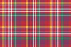 Проверите покрашенную предпосылку madras шотландки безшовную Стоковое фото RF