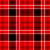 Проверите предпосылку текстуры картины шотландки тартана диаманта безшовную - красную, черно-белый цвет Стоковые Фотографии RF