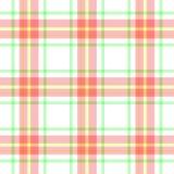 Проверите предпосылку текстуры картины шотландской ткани шотландки тартана безшовную - белизну, пинк младенца, зеленый цвет, желт Стоковые Фотографии RF