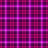 Проверите предпосылку текстуры картины шотландской ткани шотландки тартана безшовную - темные фиолетовые, горячие пинк и цвет мад Стоковые Фотографии RF