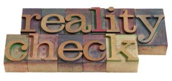 проверите реальность Стоковое Изображение RF