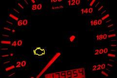 проверите свет двигателя Стоковые Изображения RF