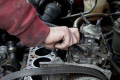 проверите двигатель вверх Стоковое фото RF