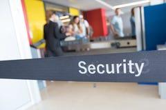Проверка безопасности в авиапорта Стоковая Фотография