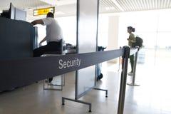 Проверка безопасности в авиапорте Стоковые Фото