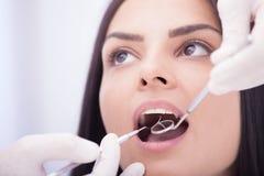проверка зубоврачебный Стоковая Фотография