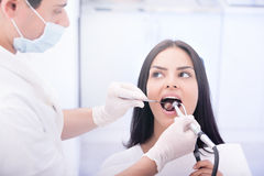 проверка зубоврачебный Стоковые Изображения RF