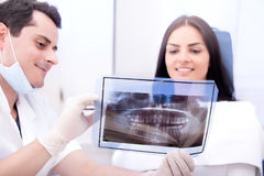 проверка зубоврачебный Стоковые Фото