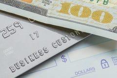 Проверка или обязанность наличных денег Стоковое Фото