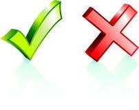 Проверка и метка x бесплатная иллюстрация