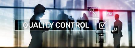 Проверка качества и обеспечение шаблонизация гарантия стандарты Концепция дела и технологии иллюстрация штока