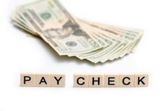 Проверка оплаты стоковое изображение