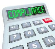 Проверка Calcualtor слова соответствия учитывая финансовая Стоковые Фотографии RF