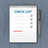 Проверка list-01 шаблона Стоковая Фотография