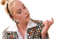 проверять ее ногти Стоковые Фотографии RF