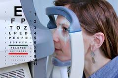 Проверять зрение в клинике будущего Стоковое Фото