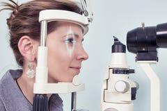 Проверять зрение в клинике будущего Стоковые Фото