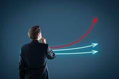 Проверять и лидер рынка Стоковые Изображения RF