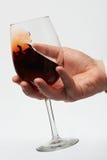 Проверять красное вино Стоковые Изображения