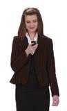 проверять мобильный телефон Стоковое фото RF