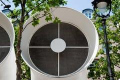 проветрите трубопровод pompidou центра стоковые фотографии rf
