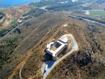 Проветрите фотоснимок, форт Aptera Koules, Крит, Грецию Стоковые Изображения RF