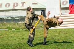 Проведения демонстрации специальных войск Стоковая Фотография