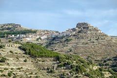 Провинция Валенсии, Испания Ares del Maestrazgo стоковые фотографии rf