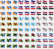 Провинция Огненной Земли, альты Лос, Сирия, Зимбабве, Сент-Люсия, великобританская антартическая территория, Танзания, Уэльс, Mar Стоковые Фото