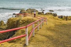 Провинция эквадор Guayas пляжа Engabao Стоковое Фото