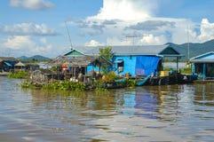 Провинция Chhnang Kampong дом реки makong около горы kongrie в Королевстве Камбоджи около границы Таиланда Стоковая Фотография