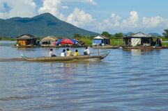Провинция Chhnang Kampong дом реки makong около горы kongrie в Королевстве Камбоджи около границы Таиланда Стоковое Фото