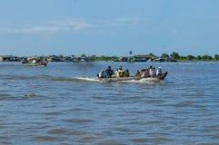 Провинция Chhnang Kampong дом реки makong около горы kongrie в Королевстве Камбоджи около границы Таиланда Стоковая Фотография RF